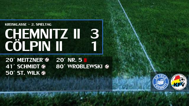 Zweites Spiel, zweiter Sieg